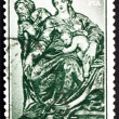 Постер, плакат: Postage stamp Spain 1963 Holy Family by Alonso Berruguete Chri