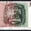 Postage stamp Spain 1995 Bronze Lion's Head, Decoration - Stock Photo