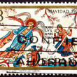 Postage stamp Spain 1972 Angel and Shepherds, Romanesque Mural, — Stock Photo