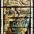 Foto de Stock  : Postage stamp Spain 1973 Nativity, Silos Church, Christmas