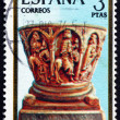 Stock Photo: Postage stamp Spain 1974 Adoration of Kings, Christmas