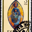Postage stamp Spain 1975 Madonna, Mosaic, Navarra Cathedral, Chr — Stock Photo