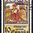 Postage stamp Spain 1980 Holy Family, Cuina Church, Christmas — Stock Photo
