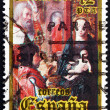 Stock Photo: Postage stamp Spain 1981 Adoration of Kings, Christmas