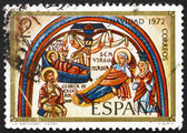 Postage stamp Spain 1972 Annunciation, Romanesque Mural, Christm — Stock Photo