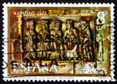 Postage stamp Spain 1973 Adoration of the Kings, Christmas — Stock Photo