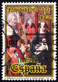 Postage stamp Spain 1981 Adoration of the Kings, Christmas — Stock Photo