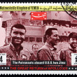 Postage stamp Yemen 1969 aboard Ship Iwo Jima, Apollo XIII - Stock Photo