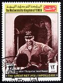 Estampilla yemen 1969 lowell y swigert, Apolo xiii — Foto de Stock