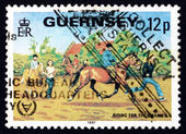 Postage stamp Guernsey 1995 Riding for the Disabled — Stock Photo