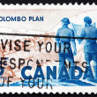 Postage stamp Canada 1961 Power Plant and Men Holding Blueprint — Stock Photo #15702759