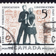 Postage stamp Canada 1962 Young Adults and Education Symbols - Stock Photo
