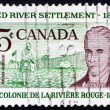 Stock Photo: Postage stamp Canad1962 Scottish Settler and Lord Selkirk