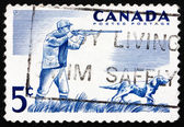 Postage stamp Canada 1957 Hunter and Dog — Stock Photo