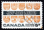 Postage stamp Canada 1962 Arms of the Canadian Provinces — Stock Photo