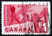 Postage stamp Canada 1963 Export Crate and Mercator Map — Stock Photo