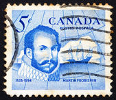 Canada 1963 le timbre-poste sir martin frobisher, explorateur — Photo