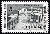 Postage stamp Canada 1964 Fathers of Confederation Memorial — Stock Photo