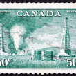Postage stamp Canada 1950 Oil Wells, Alberta — Stock Photo