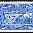 Stock Photo: Postage stamp Canad1951 Fishing, Fish Resources
