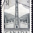 Postage stamp Canada 1953 Pacific Coast Indian House — Stockfoto