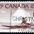 Postage stamp Canad1955 Eskimo and Kayak — Stock Photo #15711993