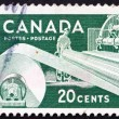 Postage stamp Canad1952 Paper Industry, Production of Paper — Stock Photo #15712015