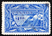 Postage stamp Canada 1951 Fishing, Fish Resources — ストック写真