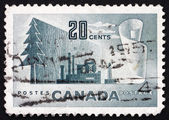 Postage stamp Canada 1952 Symbols of Newsprint Paper Production — Stock Photo
