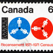 Postage stamp Canada 1971 Computer Tape and Reels - Stock Photo