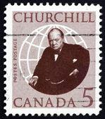 Postage stamp Canada 1965 Sir Winston Spencer Churchill — ストック写真