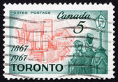 Postage stamp Canada 1967 Toronto in 1967, Citizens of 1867 — Stock Photo