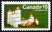 Postage stamp Canada 1972 Candles and Fruit, Christmas — Stock Photo