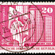 Postage stamp GDR 1973 Statue of Lenin, Berlin - Stock Photo