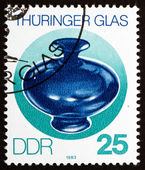 Timbre-poste rda 1983 vase, verre de thuringe — Photo