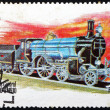 图库照片: Postage stamp Staffa, Scotland 1973 Locomotive