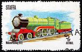 Postage stamp Staffa, Scotland 1973 Locomotive — Stock Photo
