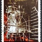 Postage stamp Umm al-Quwain 1972 Venera 1 Spacecraft — Stock Photo #16374511