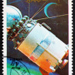 Postage stamp Umm al-Quwain 1972 Model of Vostock Spacecraft — Stock Photo #16375471