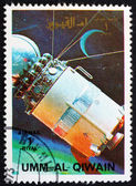 Postage stamp Umm al-Quwain 1972 Model of a Vostock Spacecraft — Stock Photo