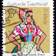 Postage stamp GDR 1971 Sorbian Dance Costume, Schleife - Stock Photo