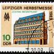 Postage stamp GDR 1983 Central Palace, Leipzig Autumn Fair — Stock Photo