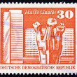 Postage stamp GDR 1973 Worker�s Memorial, Halle — Stock Photo
