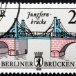 Postage stamp GDR 1985 Jungfern Bridge, East Berlin — Stock Photo