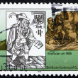 Stock Photo: Postage stamp GDR 1988 15th Century Postman