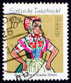 Postage stamp GDR 1971 Sorbian Dance Costume, Schleife — Stock Photo