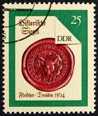 邮票 gdr 1988 德累斯顿屠夫,封印从 1564 — 图库照片