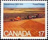 Postage stamp Canada 1980 Wheat Fields, Saskatchewan — Stock Photo