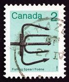 邮票加拿大 1982年捕鱼矛 — 图库照片