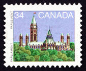 Postage stamp Canada 1985 Parliament, Library — Stock Photo